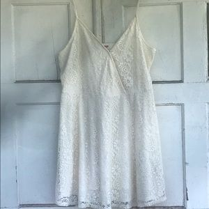 Mossimo white lace slip dress.